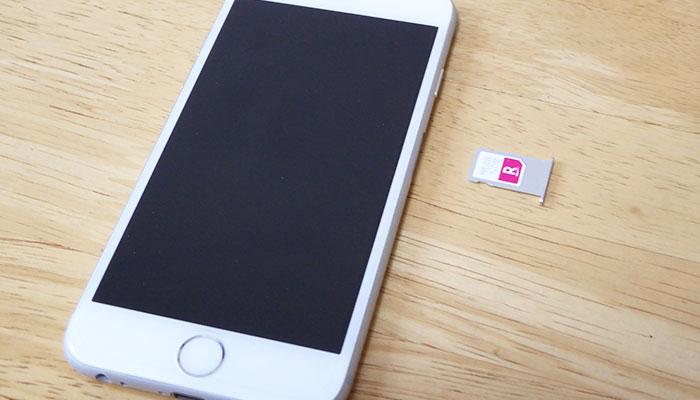 iPhone6sと楽天モバイルSIMカード