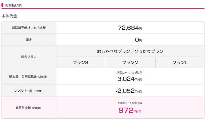 UQモバイルiPhone6s 128GB価格
