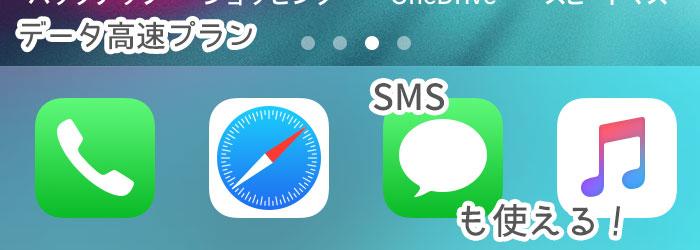 UQモバイルのデータ高速プランは、SMSも使える!