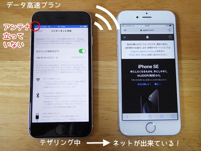 UQモバイルデータ高速プラン×iPhoneSE(第2世代)なら、テザリング利用可能