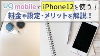 UQモバイルでiPhone12を使う方法!料金やAPNなどの設定方法と、メリットを解説。
