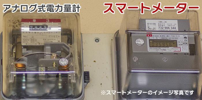 アナログ式電力量計とスマートメーター