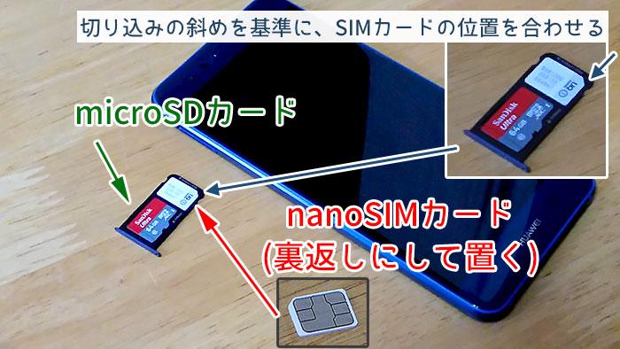 Androidスマホの場合、microSIMカードも乗せることが可能