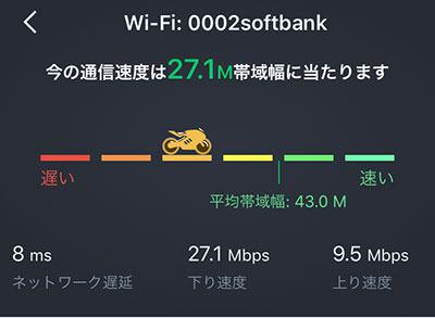 ワイモバイルWi-Fiのスターバックスでの通信速度調査01