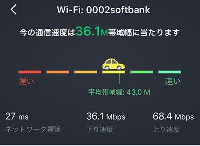 ワイモバイルWi-Fiの阪神電車での通信速度調査01