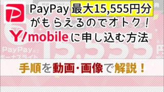 PayPayがもらえるのでオトク!ワイモバイルに申し込む手順を動画・画像でていねい解説