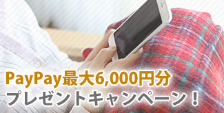PayPay最大6,000円分進呈キャンペーン