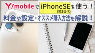 ワイモバイルでiPhoneSE(第2世代)を使う方法!料金やAPNなどの設定方法と、iPhoneオススメ購入方法を解説。