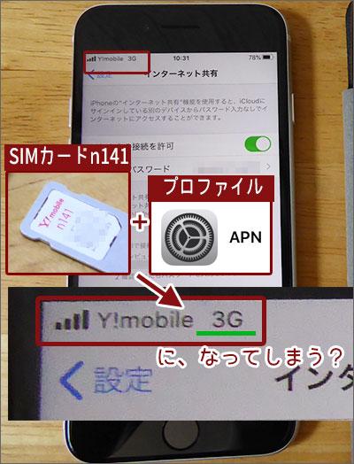 iPhone同時購入の方はSIMカード「n141」。APN設定でおかしくなるかも。