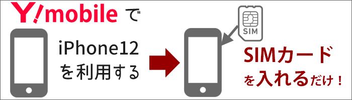 ワイモバイルで他社購入のiPhone12を利用する→SIMカードを入れるだけ!